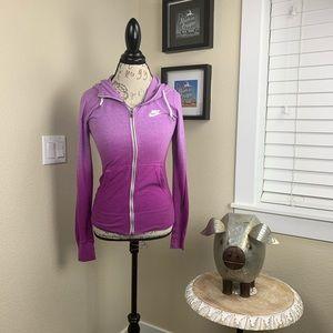 NIKE   Gym Vintage Purple Ombré Full Zip Hoodie XS